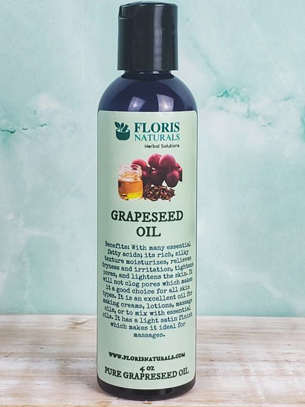 Banzai Organics - Floris Naturals Aromatherapy Pure Organic Grapeseed Oil