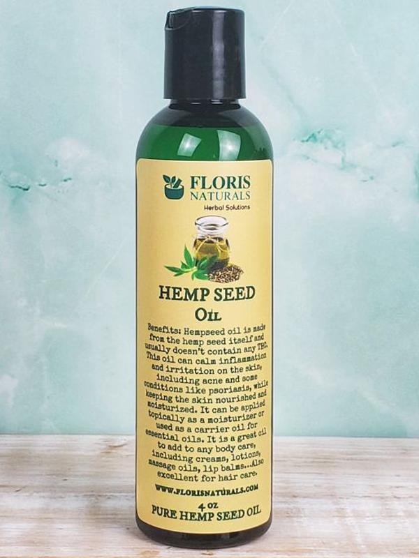 Banzai Organics - Floris Naturals Aromatherapy Pure Organic Hemp Seed Oil