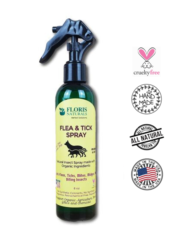 Banzai Organics - Floris Naturals Flea and Tick Spray for Dogs and Cats