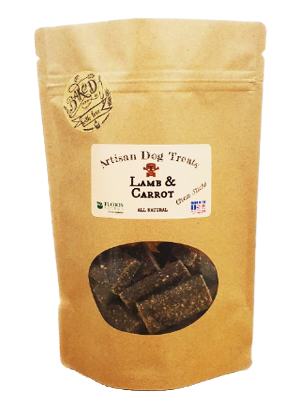 Banzai Organics - Floris Naturals Lamb and Carrot Chew Sticks natural organic dog treats