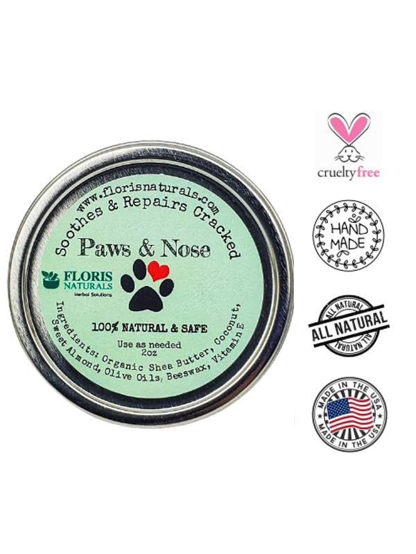 Banzai Organics - Floris Naturals Organic Paw and Nose Balm for Dogs and Cats