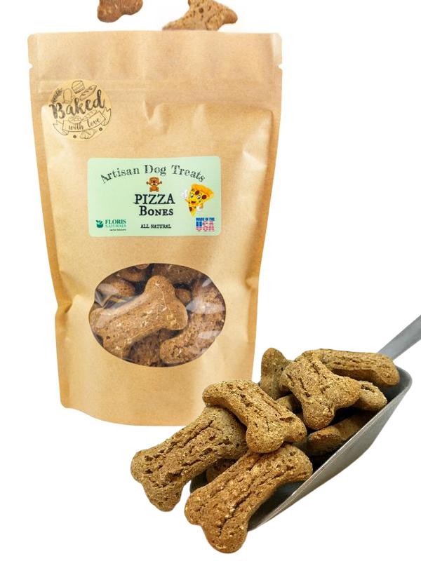 Banzai Organics - Floris Naturals Pizza Bones Natual Organic Dog Treats