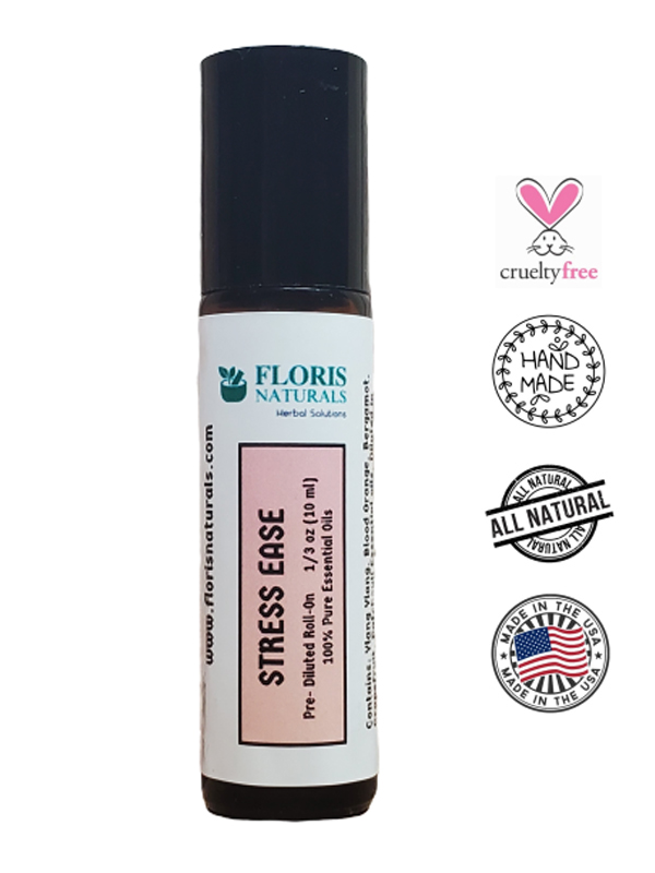 Banzai Organics - Floris Naturals Stress Ease Synergy Roll-On Blend Aromatherapy