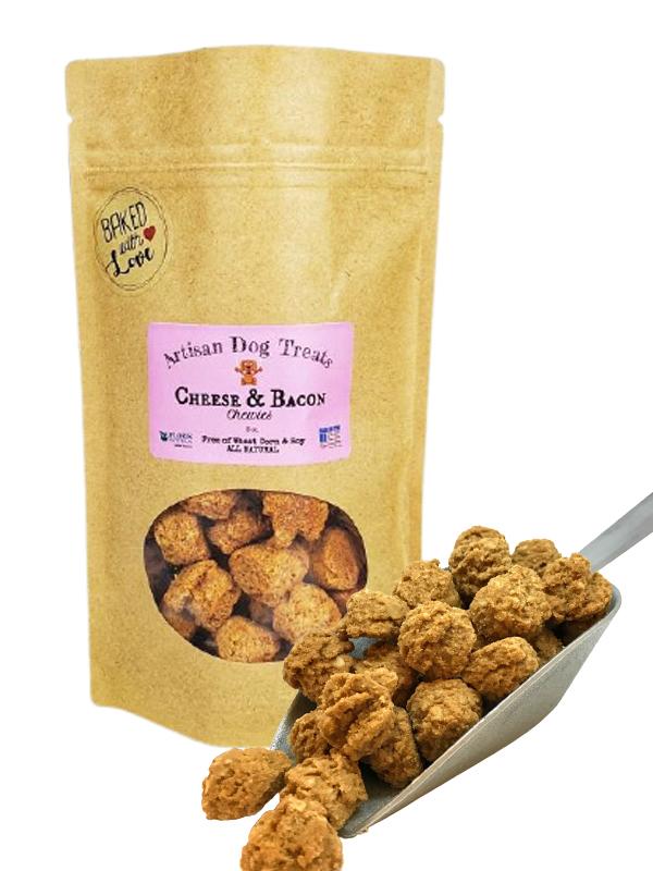 Banzai Organics - Floris Naturals bacon cheese natural organic dog treats