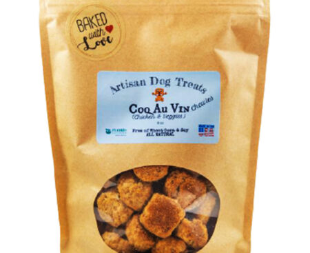 Banzai Organics - Floris Naturals chicken coq au vin natural organic dog treats