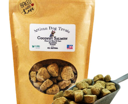 Banzai Organics - Floris Naturals coconut salmon natural organic dog treats