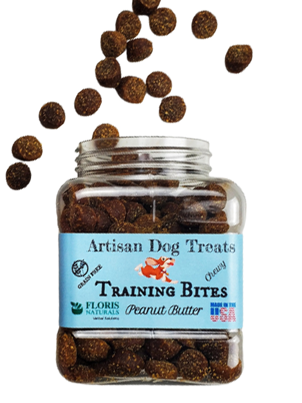 Banzai Organics - Floris Naturals dog training peanut-butter grain-free natural organic dog Treats