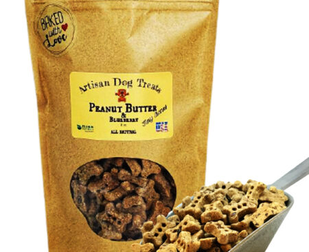 Banzai Organics - Floris Naturals peanut butter and blueberry natural organic dog treats
