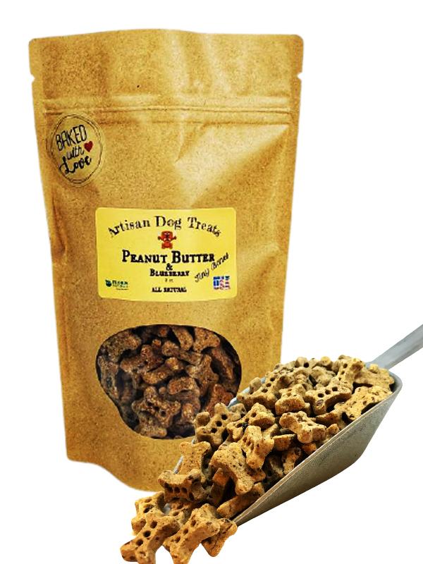 Banzai Organics - Floris Naturals peanut butter and blueberry natural organic dog treats