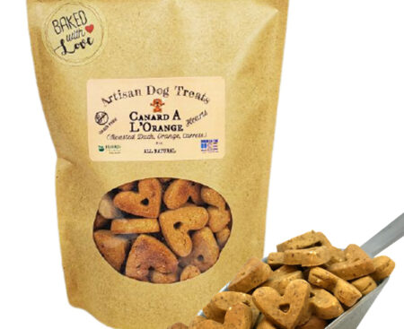 Banzai Organics - Floris Naturals roasted duck and vegetables natural organic dog treats
