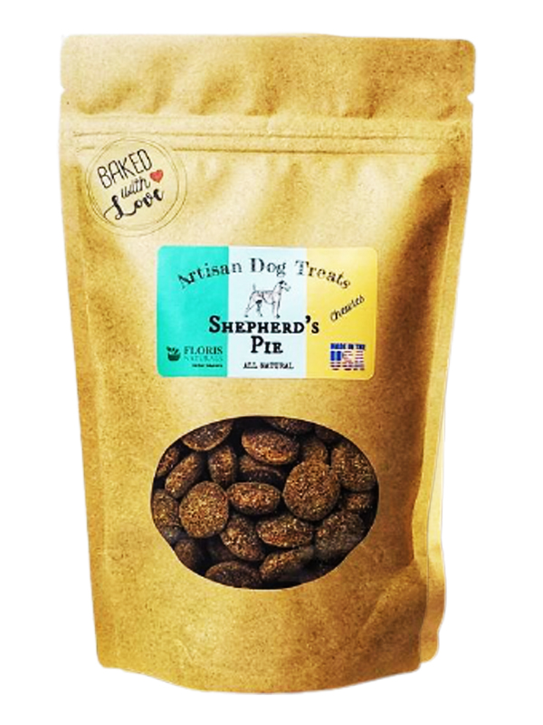 Banzai Organics - Floris Naturals shepherds pie natural organic dog treats