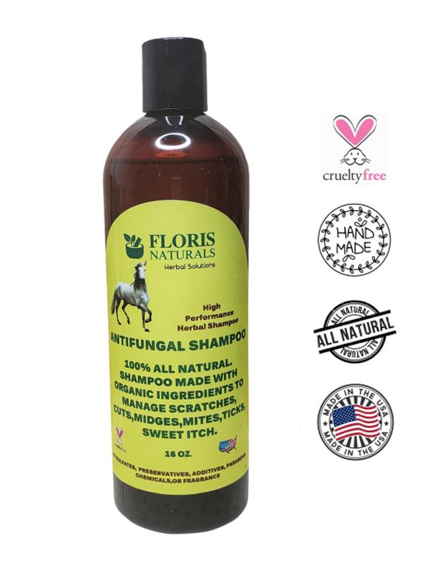 Banzai Organics - Floris Naturals Equine Antifungal Shampoo for Horses