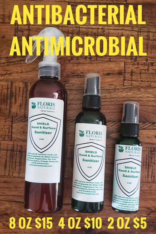 Floris Naturals Hand Surface Sanitizer 100 Natural